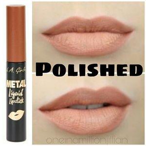 L.A. Girl Metal Liquid Lipstick - Polished